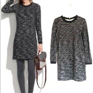Madewell Marled Charcoal Long Sleeve Sweater Dress